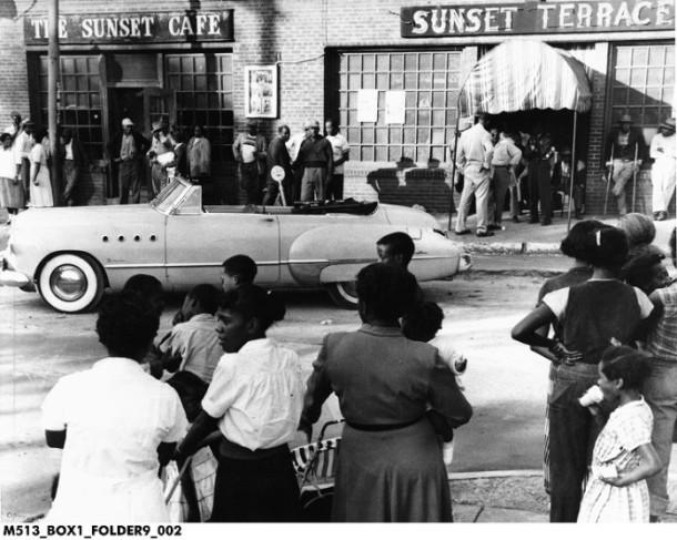 Indiana Aveune, 1953. (Indiana Historical Society)...