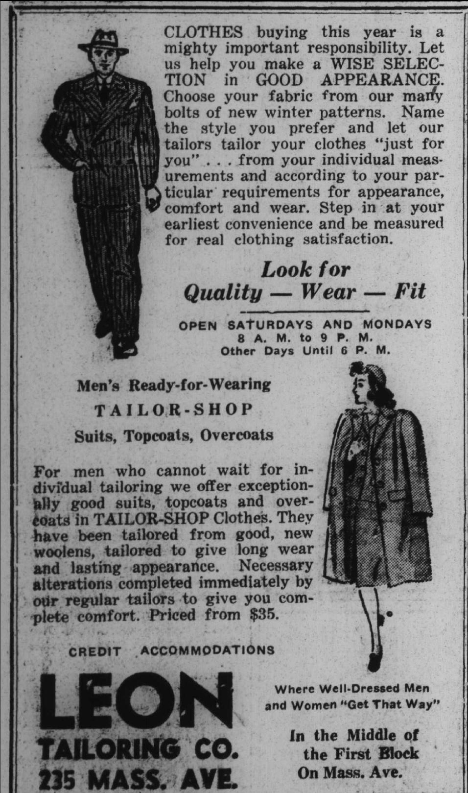 Sunday Adverts: Leon Tailoring