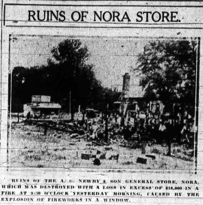 Though it's difficult to see from this grainy microfilm scan, the destruction of the business was complete.