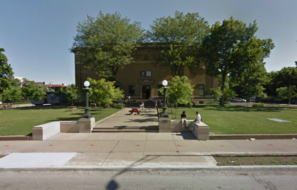 Today, the Herron Art Institute building is Herron High School. (Google Street View, 2013).