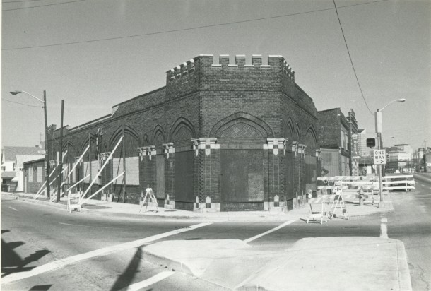 Theater next to Dugout, before it collapsed in 1984, image courtesy of Indiana Landmarks