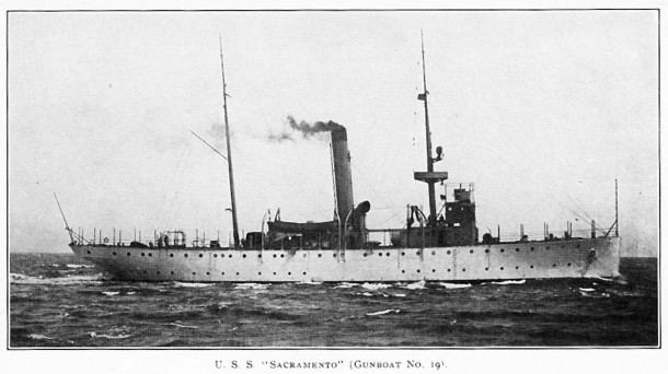 The U.S.S. Sacramento (PG-19), one of three ships to bear that name.