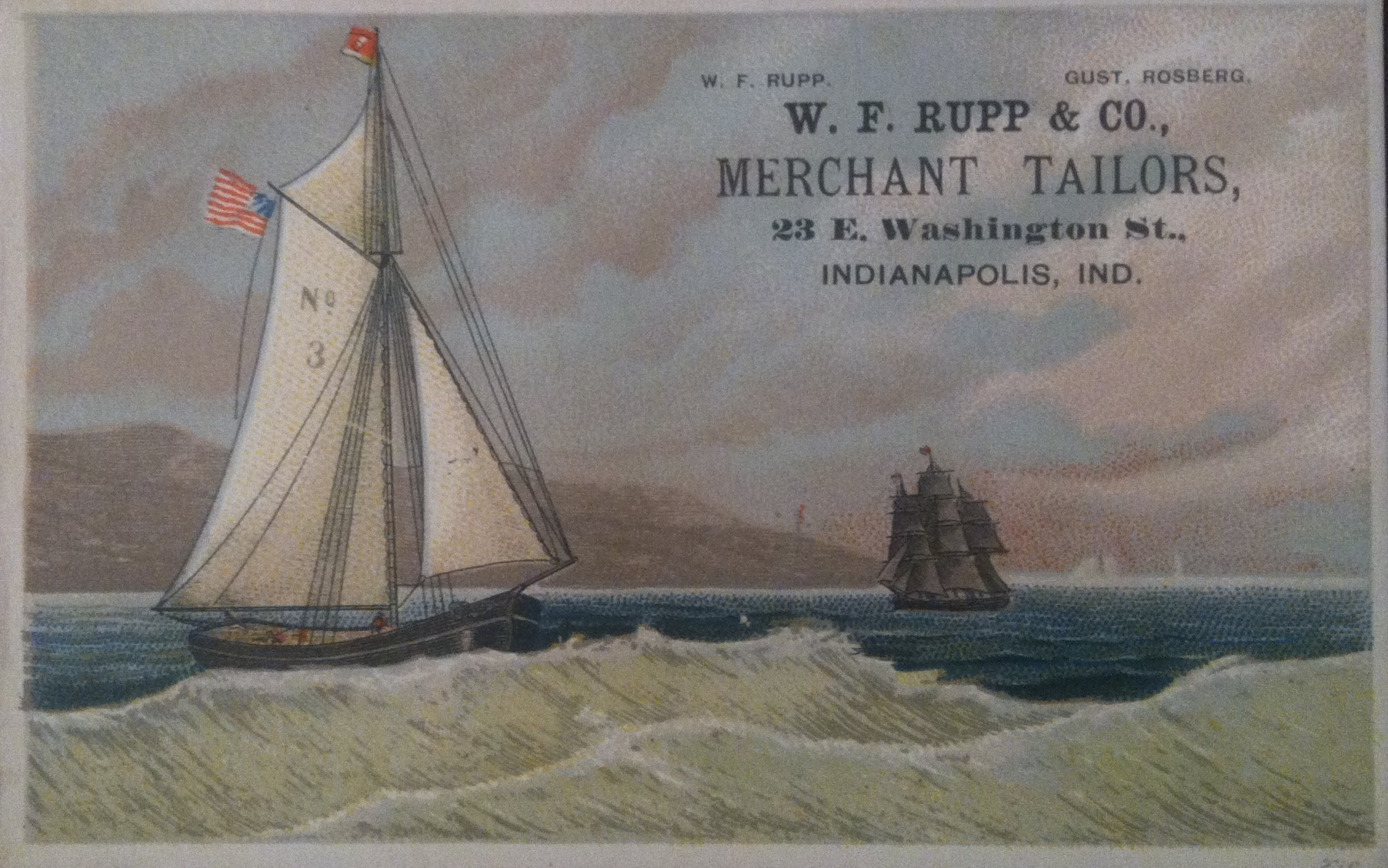 Sunday Adverts: W.F. Rupp & Co. Merchant Tailors