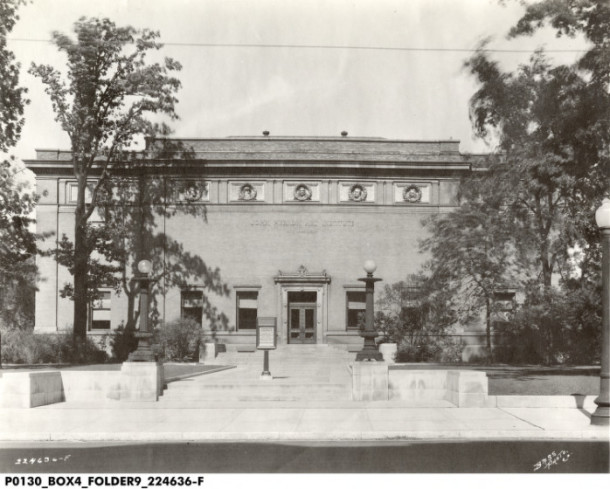 John Herron Art Institute on 16th and Pennsylvania Street. (Indiana Historical Societyyyy).