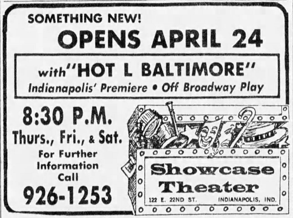(April 20, 1975 listing in the Indianapolis Star courtesy of newspapers.com)