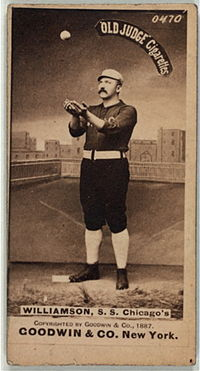 """During the 1883 major league season, Edward Nagle """"Ned"""" Williamson broke the single season record for doubles and home runs. His double record held until 1887, but it wasn't until 1919 that Babe Ruth broke Williamson's single season home run record. Unfortunately, Williamson's baseball career was cut short by a knee injury."""