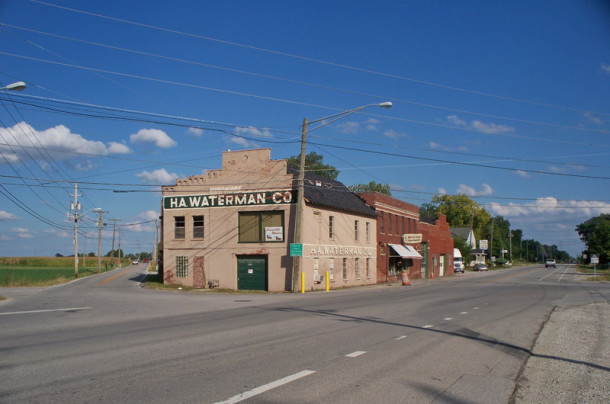 H. A. Waterman Co. has stood on one of the points in Five Points since 1881 (photo by Sharon Butsch Freeland)