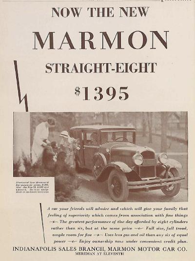 Sunday Adverts: Marmon Motor Car Co.