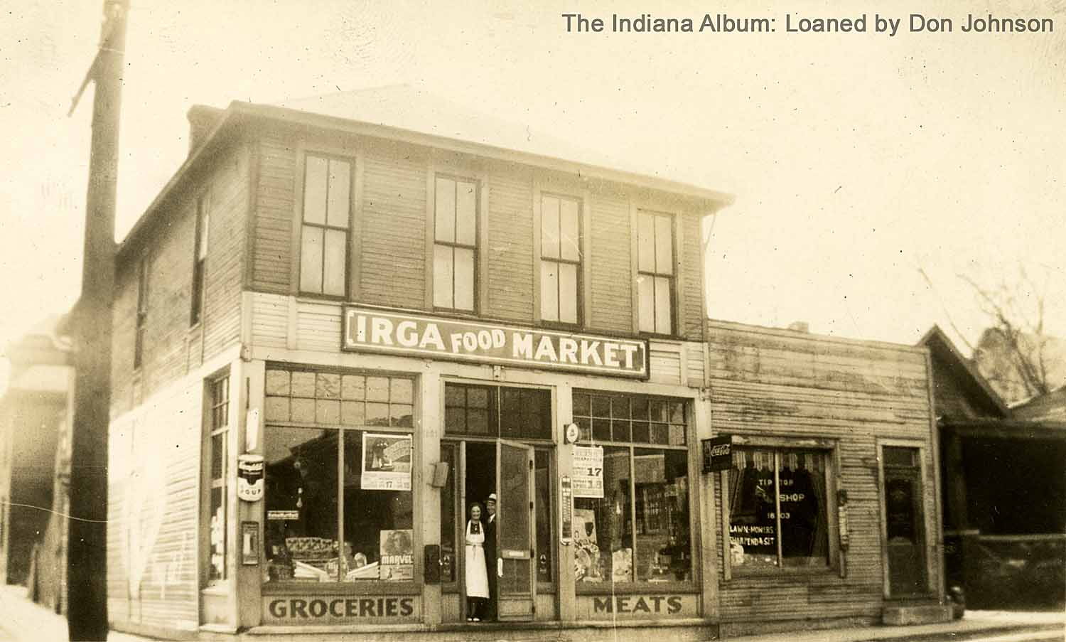 Indianapolis Then and Now: West Indianapolis at W. Morris Street and Blaine Avenue