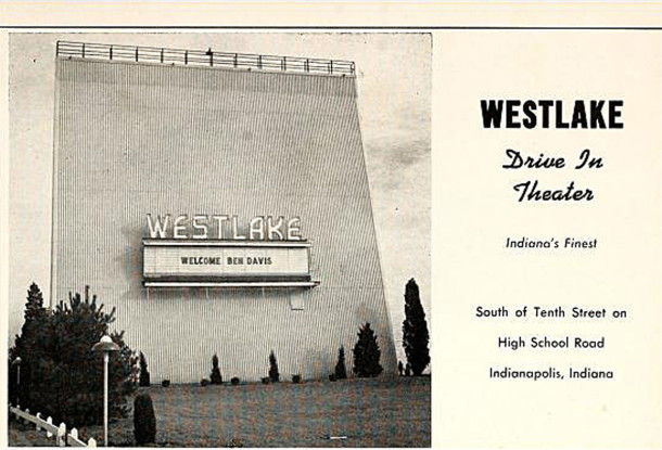 Display ad from the 1953 Ben Davis High School yearbook, Keyhole (image courtesy of classmates.com)