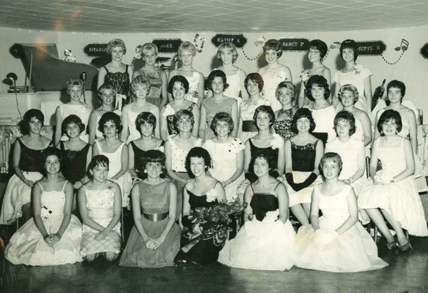 The Euvola Club, a high school social club of girls from Shortridge, North Central, and Tudor Hall, often held several of its dances at Westlake in the 1960s (photo from the collection of Sharon Butsch Freeland)