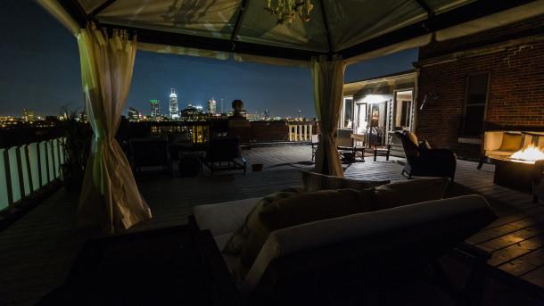 Nighttime view SW