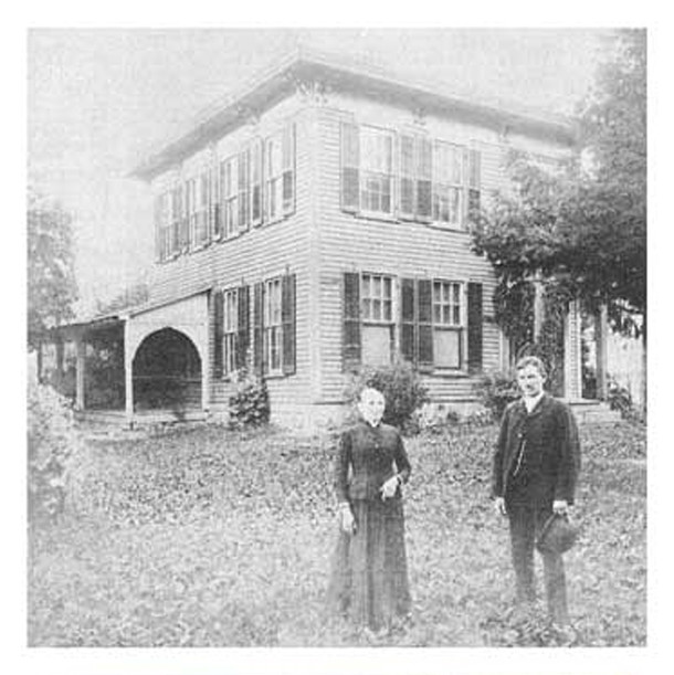 1892 image of the Cotton residence at 6360 West 79th Street (photo courtesy of Indiana Landmarks)