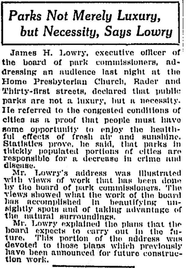 (April 29, 1913 Indianapolis Star article courtesy of Indianapolis Public Library)