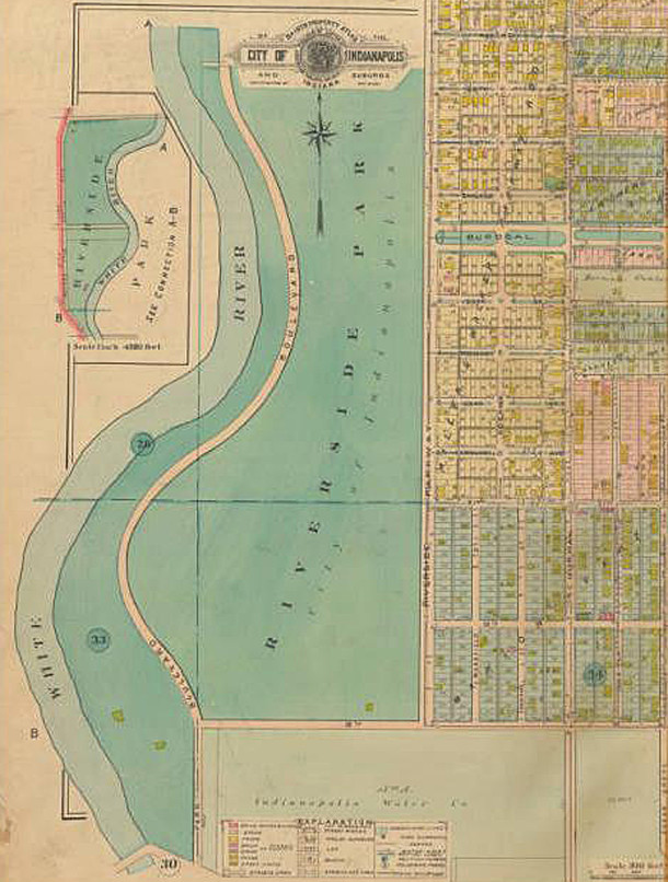 Founded in 1898 during the adminstration of Mayor Thomas Taggart, the park was briefly renamed Taggart Park from 1927 to 1930 (map courtesy of IUPUI Digital Library)