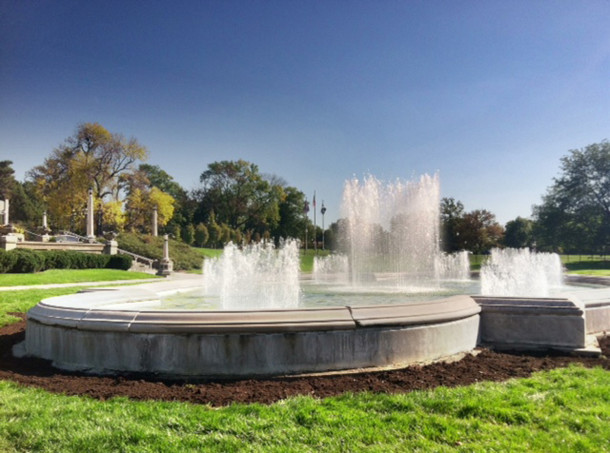 Garfield Park Fountains (photo by Tiffany Benedict Berkson)