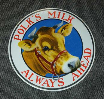 Polk's Milk sign (eBay)