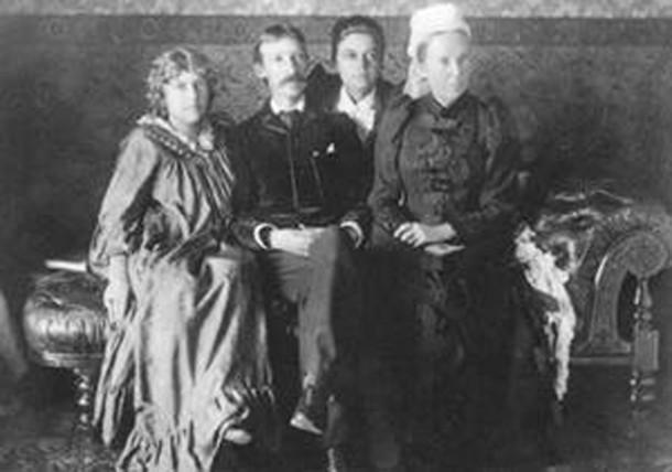 Fanny Vandegrift Stevenson, Robert Louis Stevenson, Isobel Osbourne Strong, and Margaret Balfour Stevenson in Sydney, Australia
