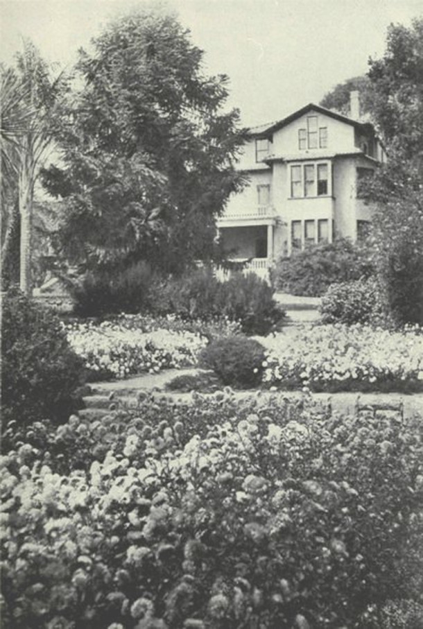 Stonehedge, Fanny's final home in Santa Barbara, California (photo from Nellie Vandegrift Sanchez book)