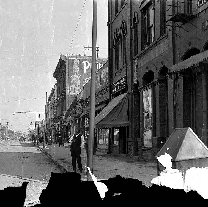 Indianapolis Then and Now: Hammond Block, 301-75 Massachusetts Avenue