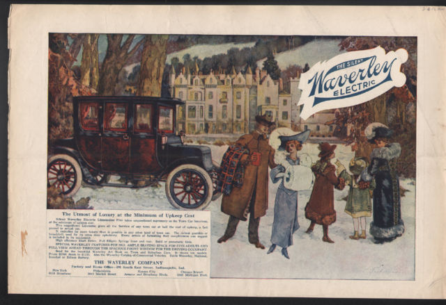 Sunday Adverts: The Silent Waverley Electric Car