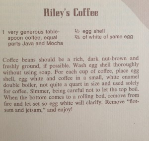 Riley's Coffee - with egg!