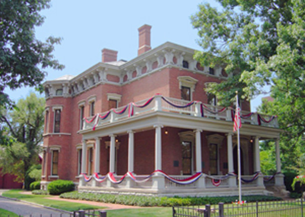 The former residence of President Bemjamin Harrison at 1230 N. Delaware St. was part of the Arthur Jordan Conservatory of Music (photo courtesy of the National Park Service)