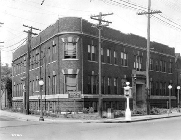 1925 image of the Metropolitan School of Music shortly before it became the Arthur Jordan Conservatory of Music (Bass Photo Company Collection, courtesy of the Indiana Historical Society)