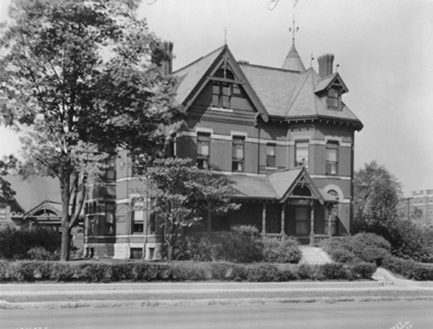 The former residence of the L.S. Ayres family at 1204 N. Delaware St. was part of the Arthur Jordan Conservatory of Music (Bass Photo Company Collection, courtesy of the Indiana Historical Society)