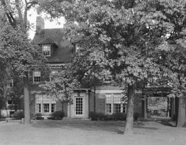 The home of Paul and Margaret Malott White at 3411 N. Pennsylvania St. was part of Arthur Jordan Conservatory of Music (Bass Photo Company Collection, courtesy of the Indiana Historical Society)