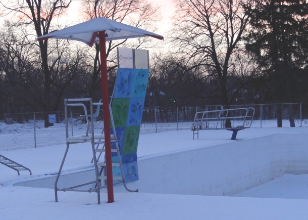 The lifeguard stands are empty today, but Ellenberger Park pool remains busy during the summer months