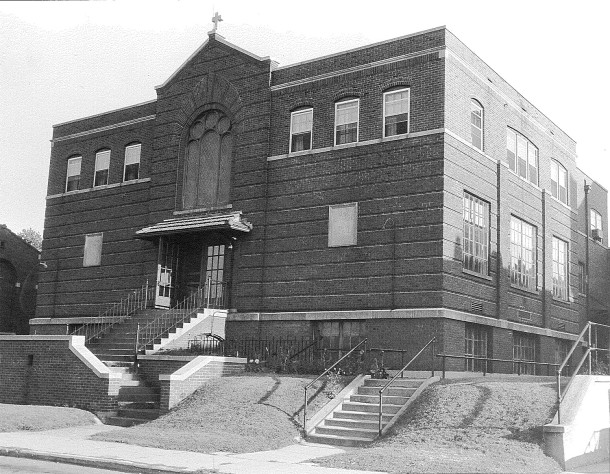 In 1922, a separate school was constructed adjacent to the church (photo courtesy of Archdiocese of Indianapolis)