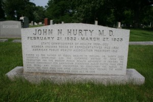 A more recent memorial stone was erected in Hurty's honor at Crown Hill Cemetery within the last 10 years.