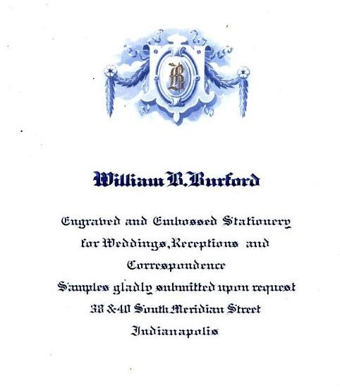 Sunday Adverts: William B. Burford Printing Company