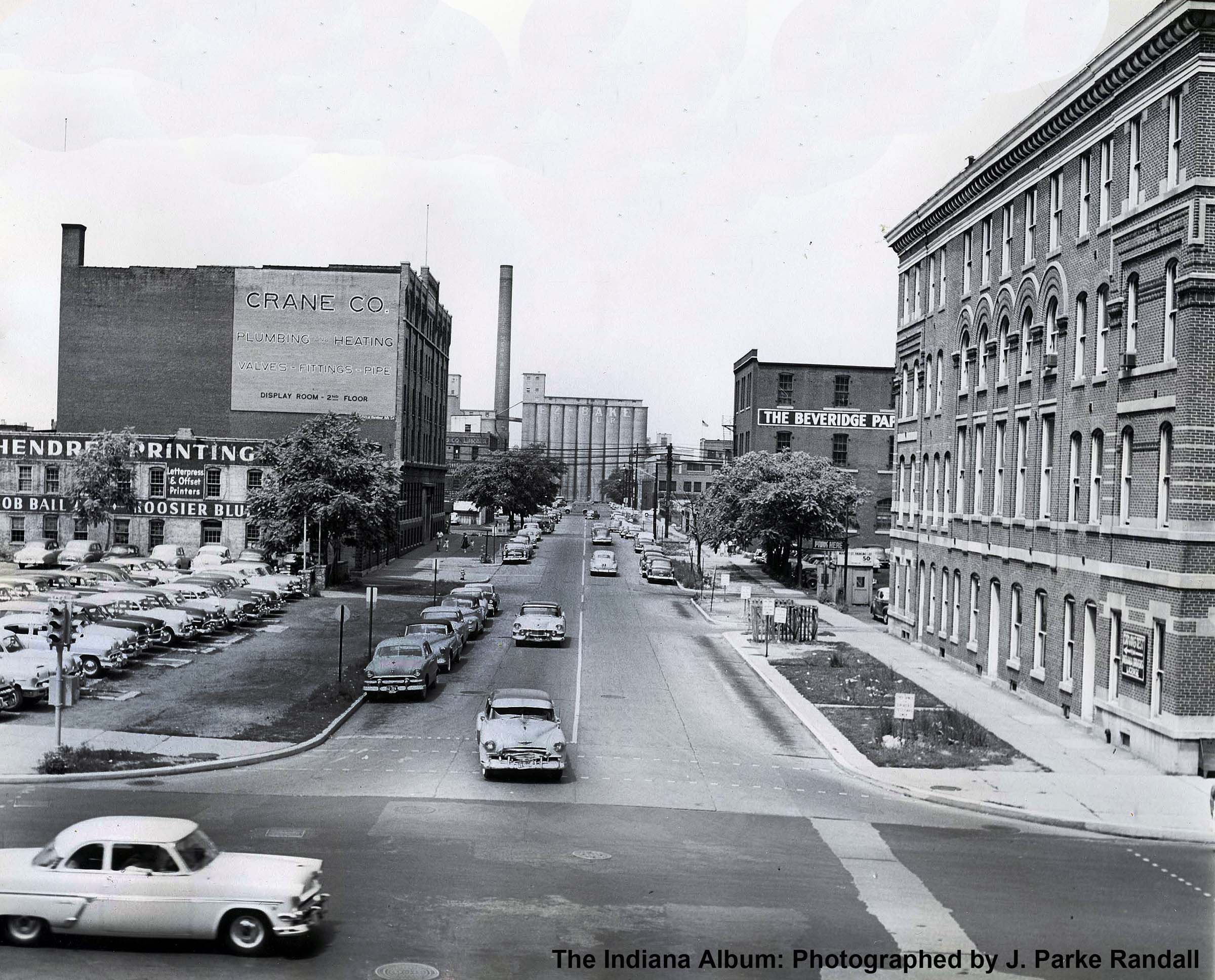 Indianapolis Then and Now: 300 block of W. Market Street (now Robert D. Orr Plaza)