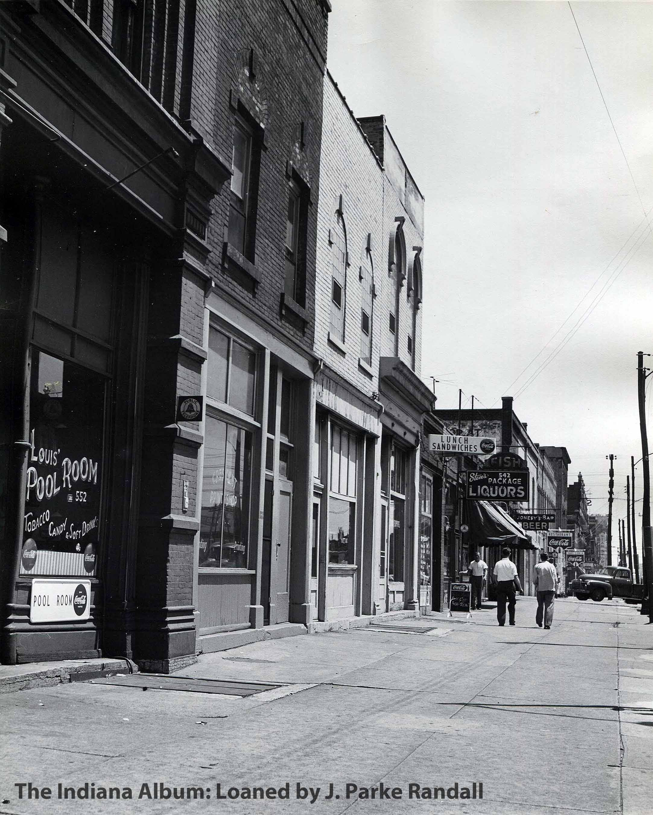 Indianapolis Then and Now: 500 Block of West Washington Street / Eiteljorg Museum
