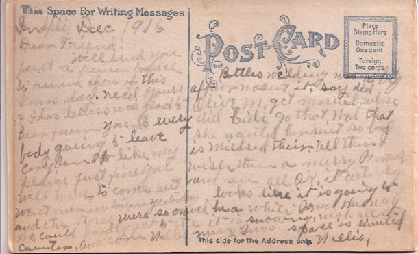 itsworthpostcard1916back