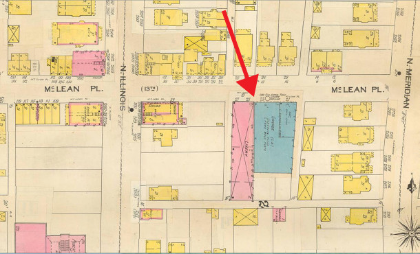 (Sanborn Fire Insurance Company map courtesy of IUPUI Digital Library)