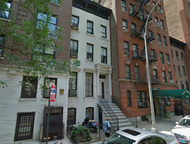 Kurt Vonnegut's townhome in New York City (image courtesy of Google maps)