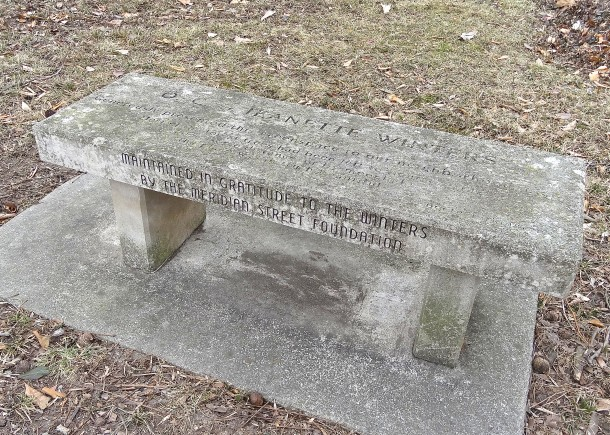 The Winter Bench, honoring the Winter family's donation to the park