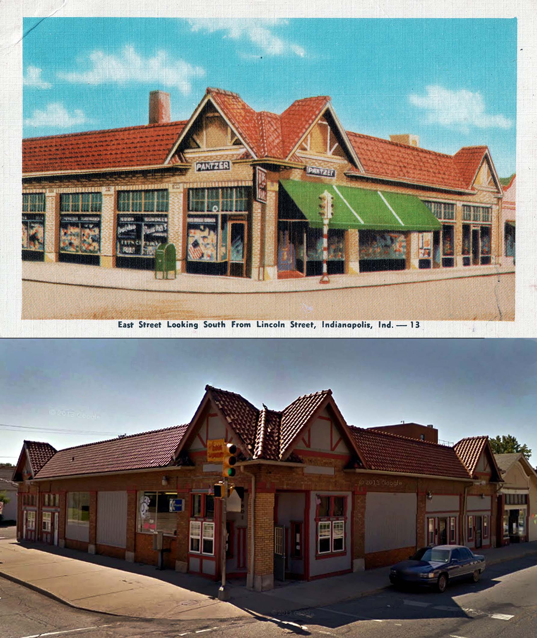 Indianapolis Then and Now: Pantzer Drugstore, 1601 S. East Street