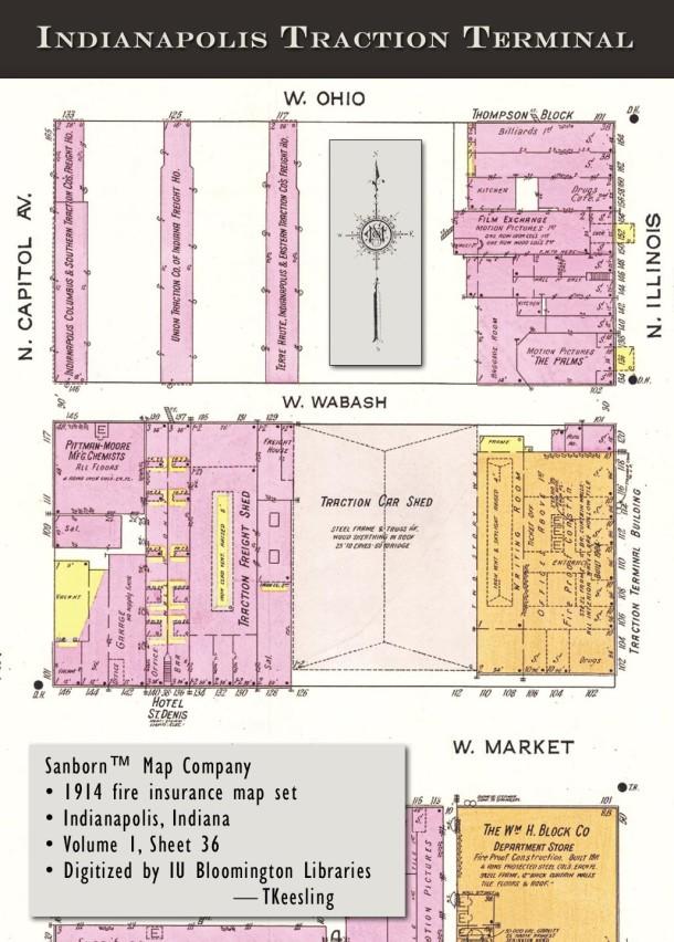 IPLS Traction Terminal Sanborn map