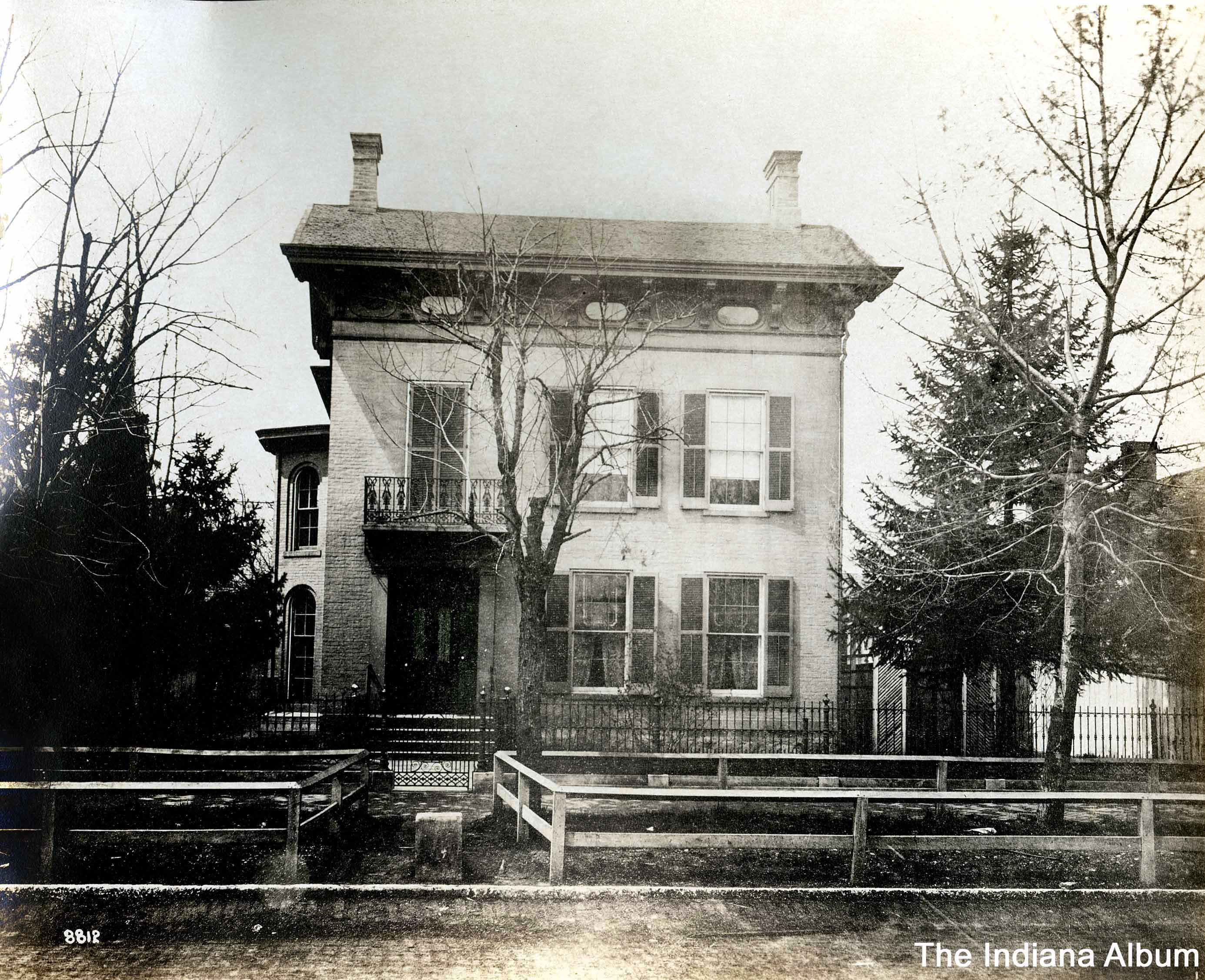 Indianapolis Then and Now: David Macy House, 408 N. Delaware Street