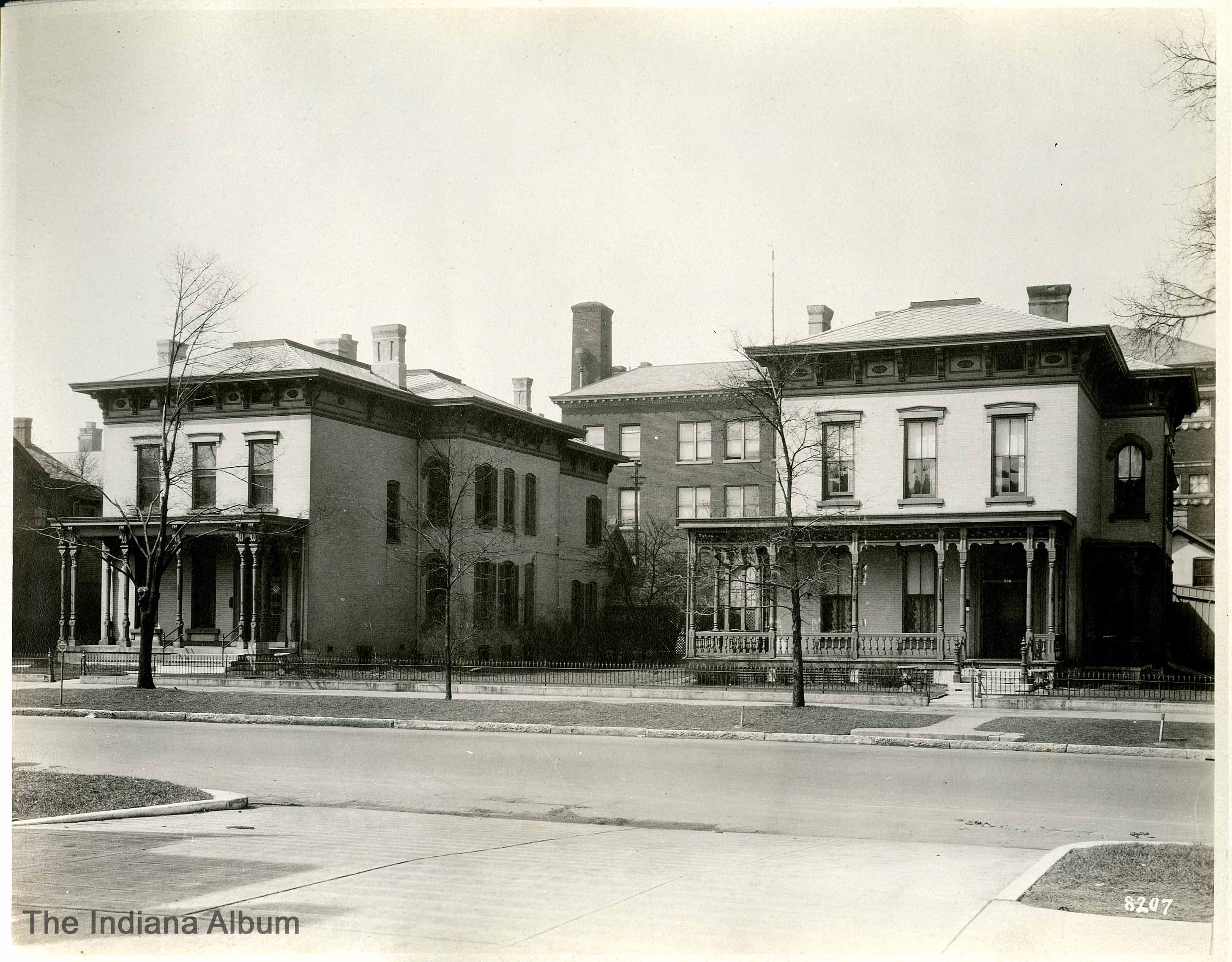 Indianapolis Then and Now: Volney T. Malott House, 536-558 N. Delaware Street