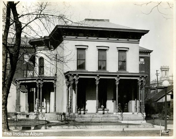 Exterior of the David Macy house at 558 N. Delaware Street, 1920s (Courtesy of the Indiana Album: Collection of Joan Hostetler)