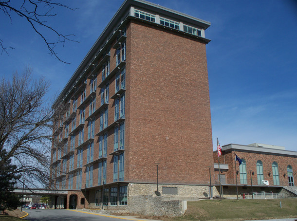 Ivy Tech Corporate and Culinary Arts, from the Meridian Street or east side of the property (photo by Sharon Butsch Freeland)