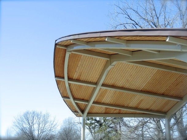 A picnic shelter in Watkins Park