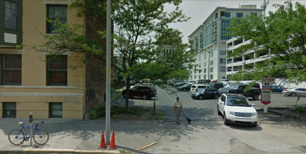 Current site of 408 N. Delaware Street (Google Street View, June 2011)