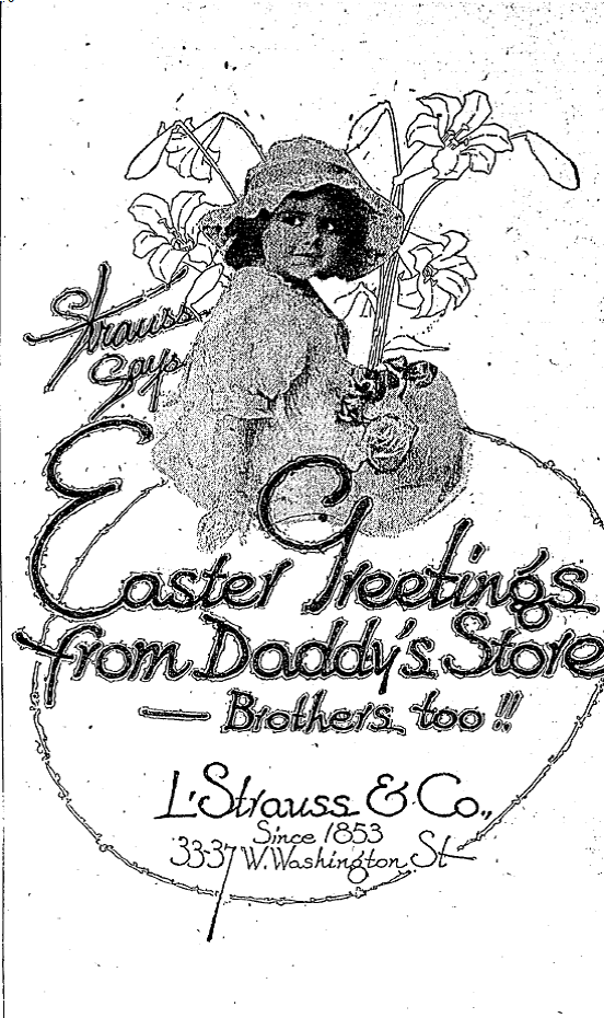 Sunday Adverts: L. Strauss & Co.
