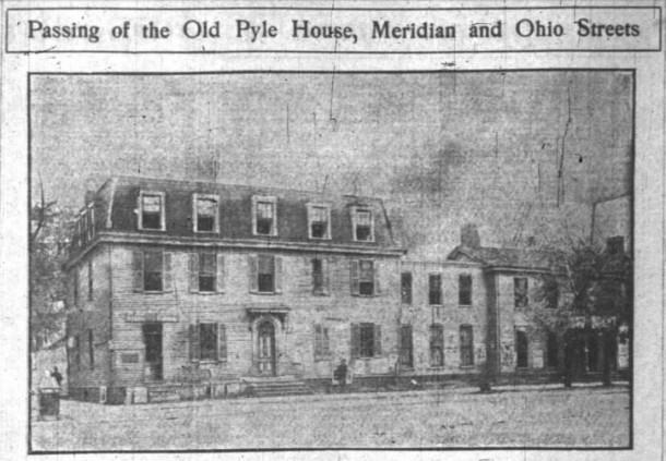 The Pyle House in 1901, Indianapolis News, 9 November 1901, p. 6